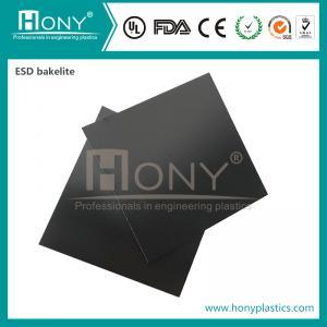 Cheap Black Orange ESD Antistatic Phenolic Laminate Cotton Cloth Bakelite Sheet/Board wholesale