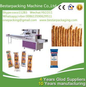Buy cheap food flow pack machine for bread sticks,breadsticks,finger sticks ,Lance Bread from wholesalers
