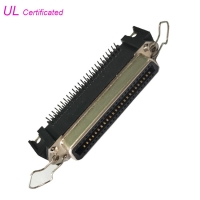 Cheap 50 Pin Centronic PCB Right Angle Female Connector with Spring Latches and Board lock wholesale