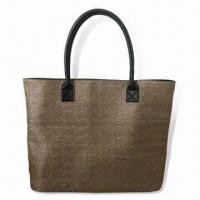 Cheap Handbag, Made of Jacquard and PVC Materials, with Main Zipper Compartment wholesale
