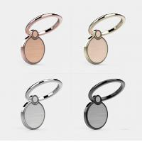 Buy cheap Exquisite 360 Degree Rotating Cellphone Round Ring Holder with Magnetic Catch Piece Inside and Gorgeous Laser Etching P from wholesalers
