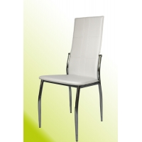 Cheap Fashionable Modern Style Pu Leather Dining Chairs With Chrome Leg wholesale