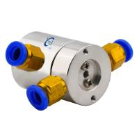 Buy cheap 0.1N.m Low Torque Slip Ring of 2 Channels Pneumatic Rotary Joint Routing from wholesalers