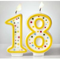Cheap Custom Arabic Number Birthday Candles 1 To 18 With Colorful Dot No Harmful wholesale