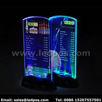 Cheap Battery Powered LED Menu Card Sign Holder for sale