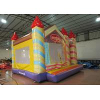 Cheap Waterproof Funny Inflatable Jump House 5 X 5m , Kids Bounce House Silk Printing wholesale