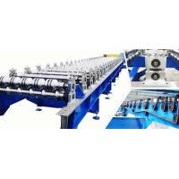 0.3 - 0.8mm PLC Steel Roof Panel Roll Forming Machine , Roofing Sheet Roll Former
