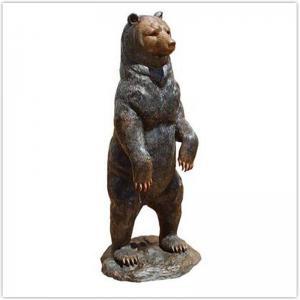 Cheap Classical Cast Iron Garden Ornaments / Metal Outdoor Bear Statues wholesale
