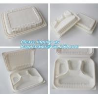 Cheap blister packaging Packaging Tray, airline fast food trays with handle, cornstarch food trays wholesale