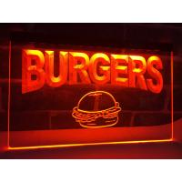 Buy cheap LED Lighted Acrylic Burgers Cafe LED Neon Light Sign Edge Lit Logo Display from wholesalers