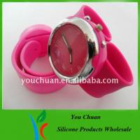 Cheap Eco-friendly Slap Wristwatch, Silicone Wrist Watches With Colorful Dial For Christmas Gift wholesale