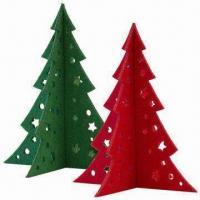 Cheap Small Christmas Tree in 3mm Felt, Laser-cut of Size 15 x 13cm wholesale