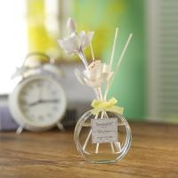 Quality Transparent Home Reed Diffuser Round Bottle Simple Style With Gift Box for sale