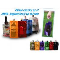 Cheap PVC Ice bag, Wine Beer Gift Bags, Wine Bag, drink ice bags, portable wine bags wholesale