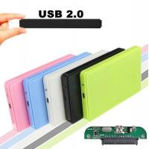 Cheap USB 2.0 External Hard Disk Case Slim Portable 2.5 HDD Enclosure SATA Hard Disk Drives HDD Case Plug And Play wholesale