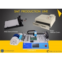 Buy cheap 29 Feeders CHMT48VA + Stencil Printer + Reflow Oven T962C SMT Production Line , from wholesalers