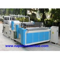 Cheap Perforated Paper Cutting Jumbo Roll Slitting Machine , Toilet Paper Rewinding Machine wholesale