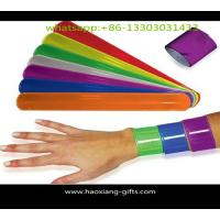 Cheap Promotional custom ruler slap bracelet reflective PVC wristband/slap wristbands wholesale