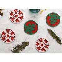 Cheap Safe Eco Friendly Felt Coasters Christmas Decorations For Home / Kitchen wholesale