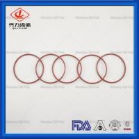 Cheap Silicone Core Sanitary Clamp Gaskets FEP Clear Coating O Ring Tri Clamp Screen Gasket wholesale