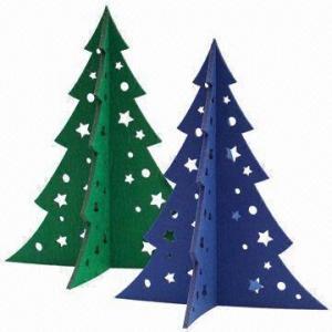 Cheap Medium Christmas Tree in 5mm Felt, Laser-cut of Size 30 x 25.3cm wholesale