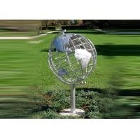 Cheap Decorative Stainless Steel Sculpture With Semi - Meridian Globe Shape wholesale