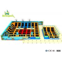 Buy cheap PP Material Mat Large Indoor Trampoline Centre With Basket Ball Equipemnt from wholesalers