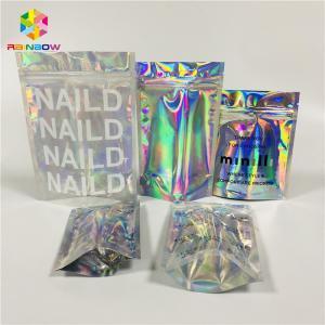 Buy cheap Foil Laminated Cosmetic Packaging Bag Laser Custom Hologram Mylar Zipper Lock from wholesalers