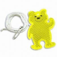 Cheap Bear-shaped Reflector, Available in 3 Standard Colors wholesale