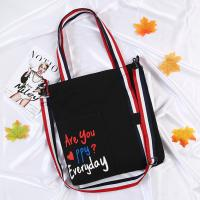 Buy cheap new summer oblique span single-shoulder canvas bag small fresh art student bag from wholesalers