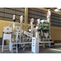 China 24T/DAY rice mill rice milling equipment with destoner machine and  huller machine gravity paddy separator rice whitener on sale