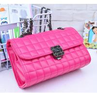 Cheap Pink Genuine Quilted Leather Handbags Alloy Chain Strap Western Style For Ladies wholesale