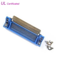Cheap 50 pin 25 Pair Centronic PCB Right Angle Champ Plug Connector male type Certified UL wholesale