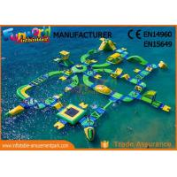 Cheap 0.9mm Vinyl Custom Inflatable Water Parks For Outside Entertainment wholesale