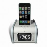 Cheap Speaker System for iPod and iPhone, with Remote Control, Snooze and Sleep Functions,docking station wholesale