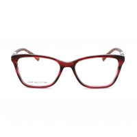 China Ladies Red Square Acetate Optical Frame For Eyeglasses on sale