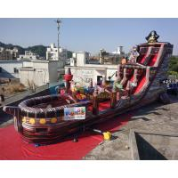 Cheap 18m Inflatable Commercial Pirate Ship Slide  / Blow Up Water Slide wholesale