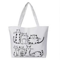 Cheap Printed Cartoon Custom Shoulder Bags for women , Zippered Tote Bag wholesale