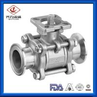 "Cheap 304 / 316L SS Sanitary Ball Valves 1"" - 4"" Port With High Mounting Pad wholesale"
