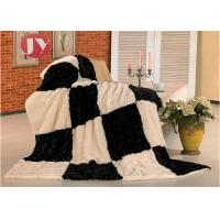 Cheap Polyester Plush Fur Blanket Personalized Soft Touch Patchwork Keep Warm wholesale