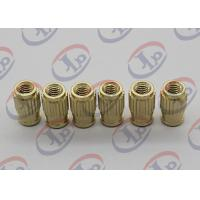 Cheap Small Machine Parts Plastic Insert Parts Brass Nuts With Blind Via Hole wholesale