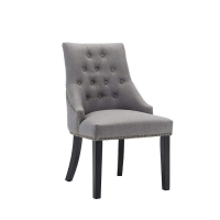 Cheap Grey Leather Tufted High Wingback Dining Chair wholesale