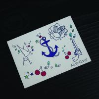 Quality Artificial Temporary Wedding Tattoos Stickers Multi Coloured Water Transfer for sale