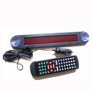 12V LED Message Digital Moving Scrolling Car Sign Light Red color 30*5*1cm Remote control