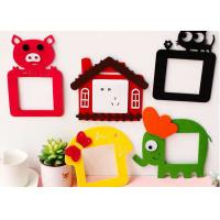 Cheap Colorful Felt Fabric Crafts Lovely Design Switch Decoration Sticker wholesale