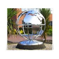 Cheap Metal World Globe Map Stainless Steel Sculpture For Public Decoration wholesale