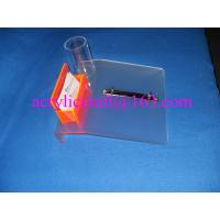 Cheap Frosted acrylic desktop calendar stand with name card holder & pen holder wholesale