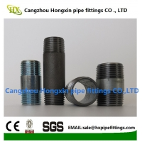 Buy cheap ANSI B 16.9 Galvanized carbon steel pipe fittings BSP NPT Thread pipe nipple from wholesalers
