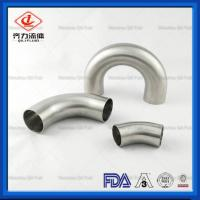 Cheap 316 Stainless Steel   Sanitary Pipe Fittings 180 Degree  Butt Welding Elbow wholesale