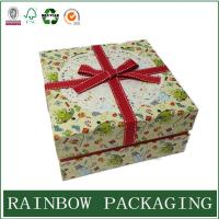 Cheap Factory Custom Cardboard Paper Box Packaging for Gift Chocolate with Ribbon wholesale